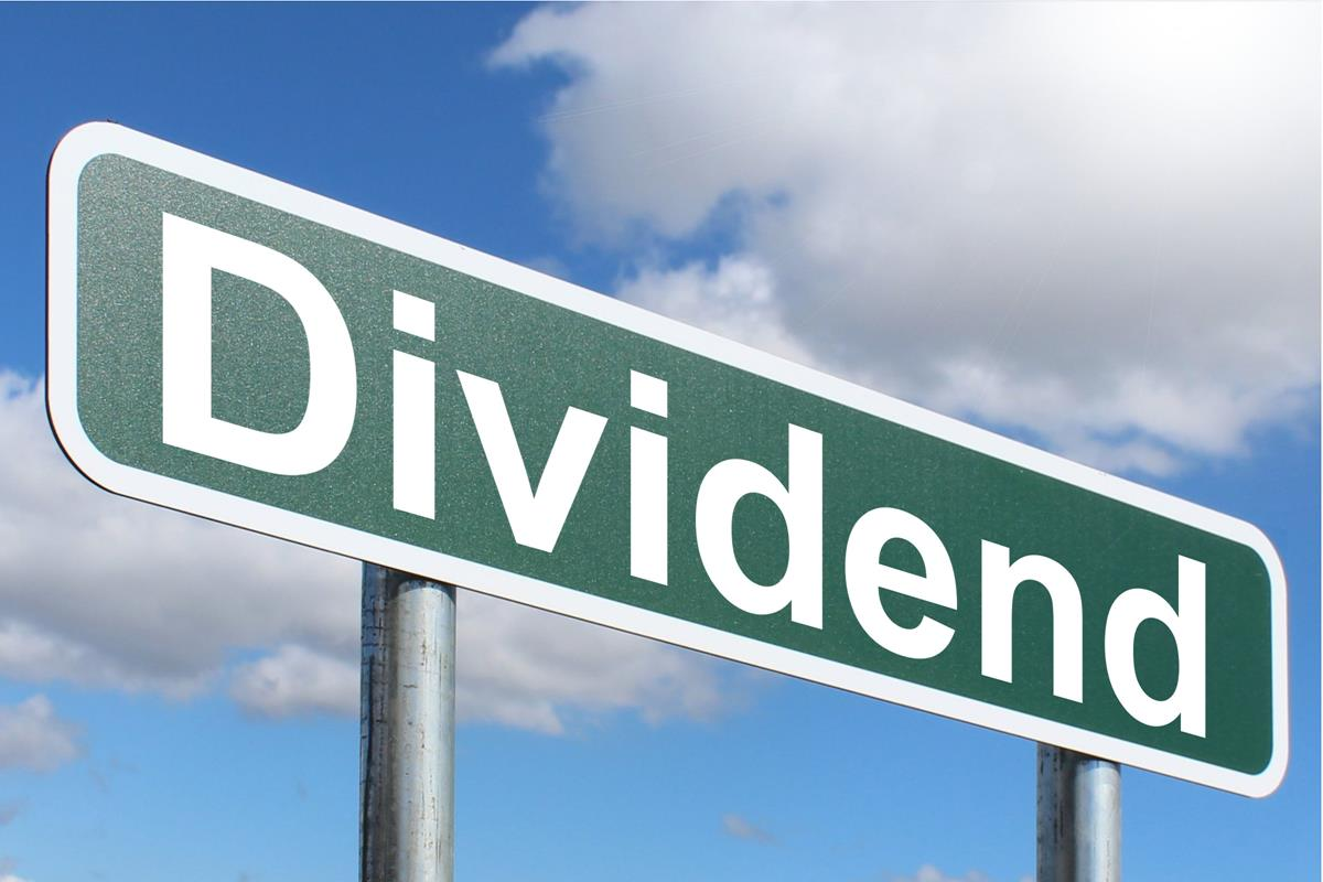 dividend sign